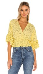Faithfull The Brand Gisela Top In Yellow. La Fica Floral