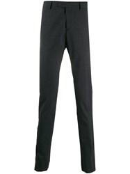 Les Hommes Slim Fit Tailored Trousers Grey