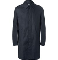 A.P.C. Cotton Blend Gabardine Raincoat Navy