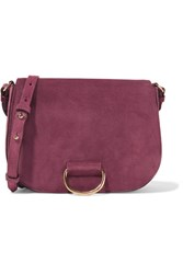 Little Liffner Saddle Medium Suede Shoulder Bag Plum