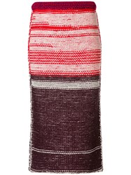 Calvin Klein 205W39nyc Knitted Midi Skirt Red