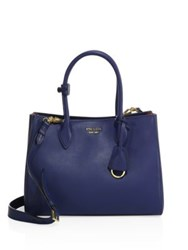 Prada City Two Tone Leather Tote Rosso Bluette