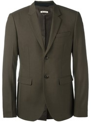 Marni Single Breasted Blazer Brown
