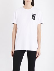 Boy London Eagle Tape Print Cotton Jersey T Shirt White Black
