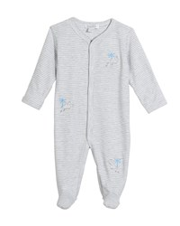 Kissy Kissy Roarsome Striped Footie Playsuit Size Newborn 9 Months Gray
