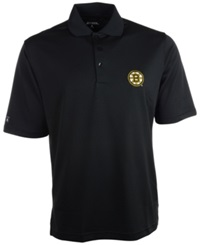Antigua Men's Short Sleeve Boston Bruins Polo Black