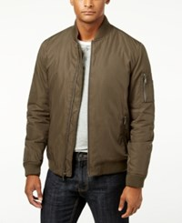 Inc International Concepts Men's Jeremy Bomber Jacket Only At Macy's Olive