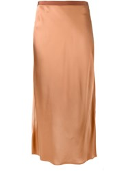 Helmut Lang Slip Skirt Brown