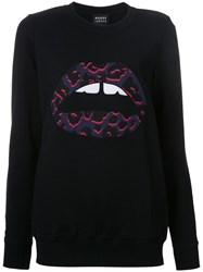 Markus Lupfer Applique Lips Sweatshirt Black