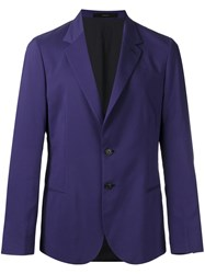 Paul Smith Notched Lapel Blazer Men Cotton Cupro Modal Cashmere 50 Blue