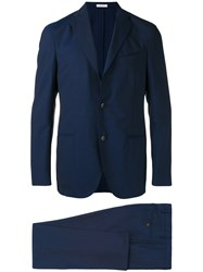 Boglioli Tailored Suit Men Acetate Cupro Wool 46 Blue