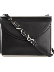 Carven Logo Plaque Crossover Bag Black