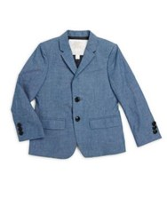 Burberry Little Boy's And Boy's Tuxedo Jacket Stone Blue