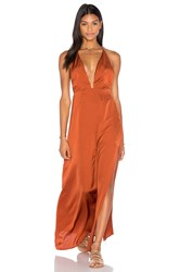 Capulet Pia Halter Maxi Dress Rust