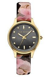 Ted Baker Women's London 'Dress Sport' Patent Leather Strap Watch 32Mm