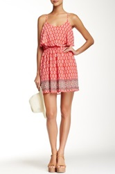 Iris Printed Spaghetti Strap Dress Pink