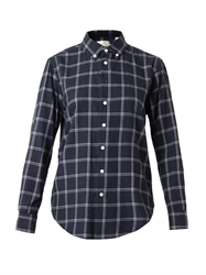 Band Of Outsiders Check Print Cotton Shirt