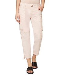 Sanctuary Solid Cotton Blend Pants Washed Cameo