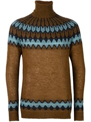 Laneus Turtleneck Jumper Brown