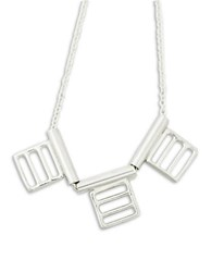 Brika 18K Vermeil Square Statement Necklace Silver