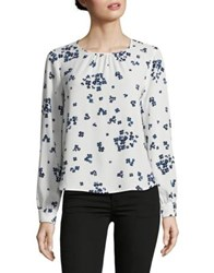 Marella Pleated Floral Blouse White