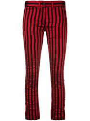 Ann Demeulemeester Vertical Stripe Trousers Black