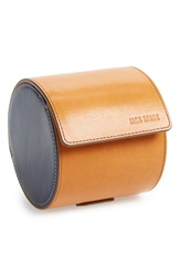 Jack Spade 'Mitchell' Leather Tie Canister Saddle Navy