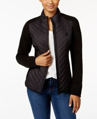 G.H. Bass And Co. Quilted Zip Front Jacket Black