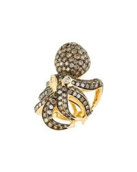 Roberto Coin 18K Cognac Diamond Octopus Ring