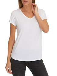 Betty Barclay V Neck Cap Sleeve T Shirt White