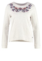 Tom Tailor Denim Sweatshirt Alabaster Beige Melange Grey