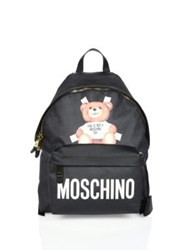 Moschino Paper Doll Bear Cutout Backpack Black Multi