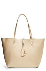 Street Level Junior Women's Reversible Faux Leather Tote Metallic Gold Pink