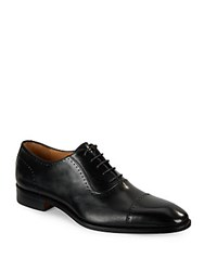 Saks Fifth Avenue Leather Lace Up Oxfords Black