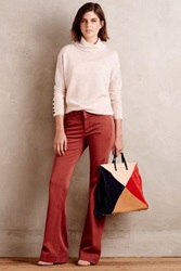 Anthropologie Level 99 Wide Leg Chinos Red 33 Pants