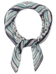 Eastex Spot Stripe Square Scarf