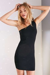 Silence And Noise One Shoulder Bodycon Mini Dress Black