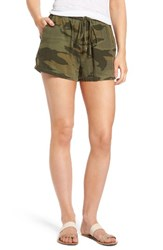 Splendid Women's Camo Shorts Military Olive