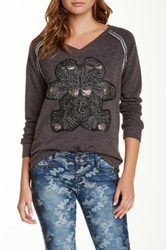 Custo Barcelona Beaded Sweatshirt Gray