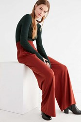 Urban Outfitters Uo Everly Smocked Wide Leg Pant Rust