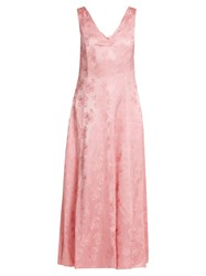 Alexachung Open Back Floral Jacquard Dress Pink