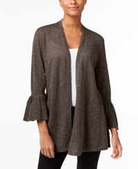 Alfani Open Front Cardigan Only At Macy's Urban Olive