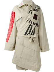 Vivienne Westwood Anglomania Wrap Trench Coat Nude And Neutrals