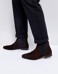 Kg By Kurt Geiger Suede Chelsea Boots Brown