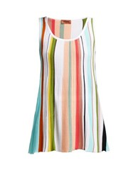 Missoni Striped Cotton Tank Top Multi Stripe