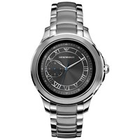 Emporio Armani Connected 'S Bracelet Strap Touch Screen Smartwatch Silver Black Art5010