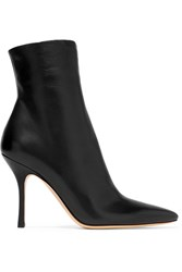 The Row Gloria Leather Ankle Boots Black