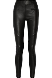 Alexander Wang Stretch Leather Leggings Black
