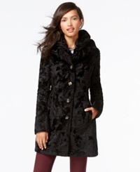 Laundry By Shelli Segal Petite Reversible Faux Fur Quilted Coat