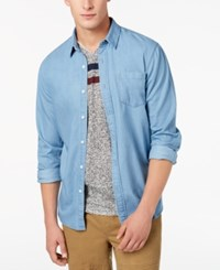 American Rag Men's Light Wash Denim Shirt Created For Macy's